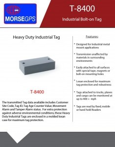 T-8400 Industrial Bolt-on Tag